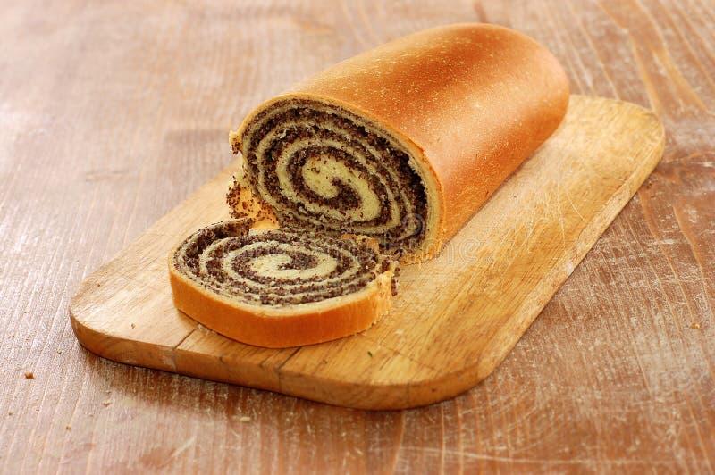 Ancora durata della pagnotta del pane del papavero fotografie stock