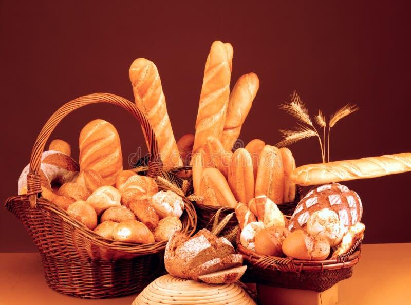 Ancora vita con pane, panini ed il baguette