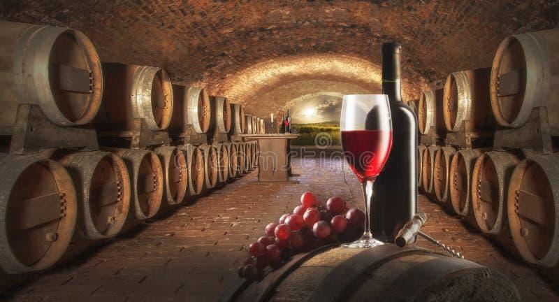 Ancora vita con vino rosso immagine stock libera da diritti