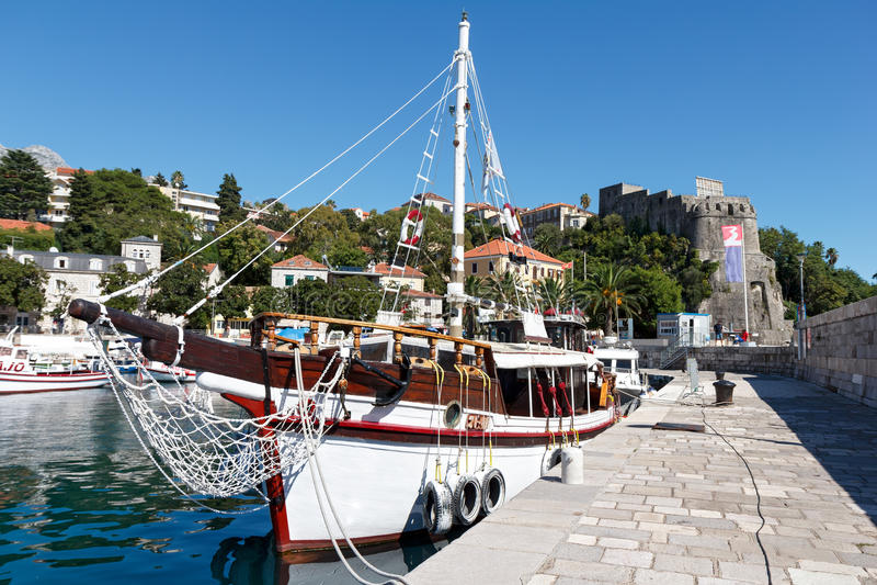 Ancoraggio in Castelnuovo, Montenegro immagine stock libera da diritti
