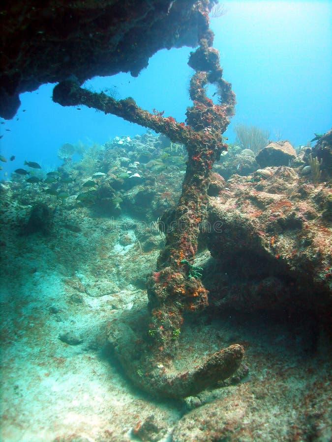 Ancoraggio dal naufragio della nave fotografia stock libera da diritti