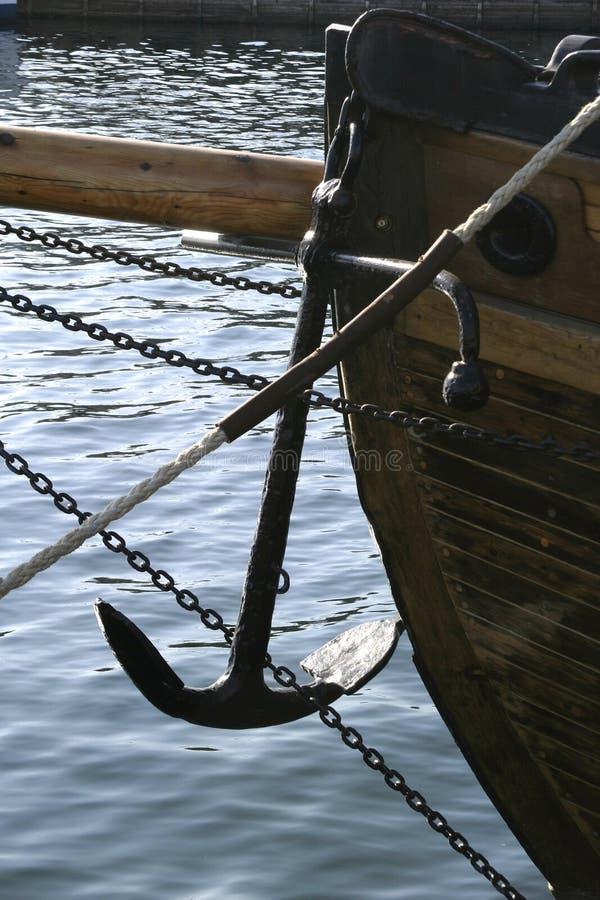 Ancoraggio della barca immagine stock