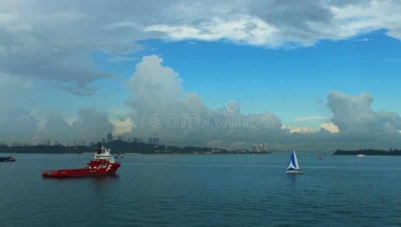 Ancoraggio di Singapore fotografie stock libere da diritti