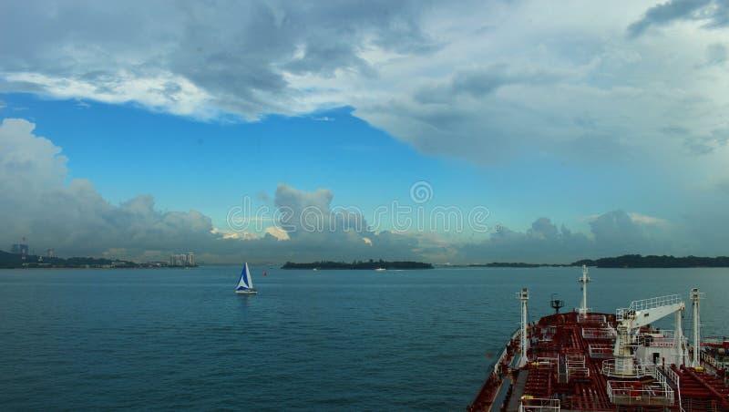 Ancoraggio di Singapore fotografia stock