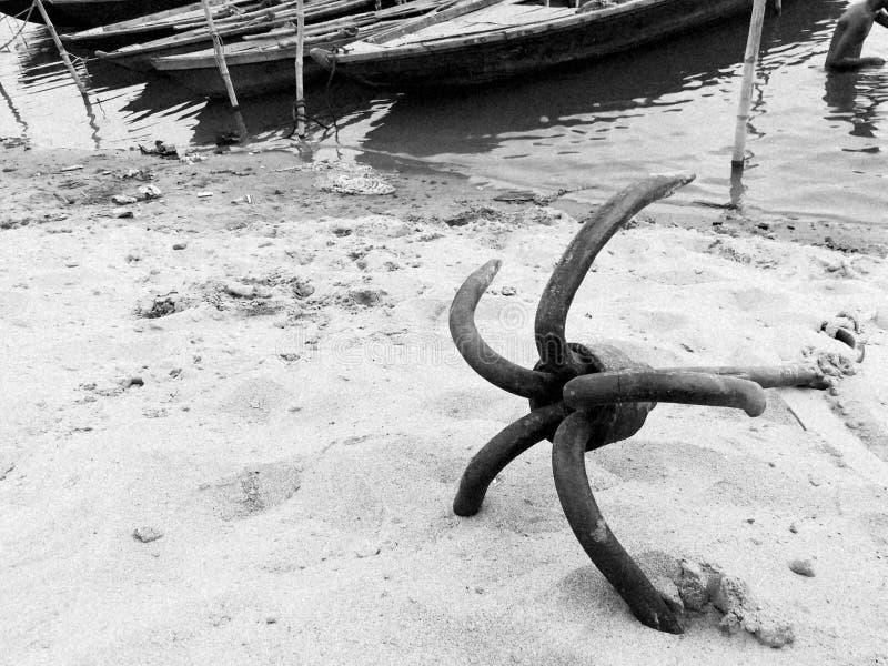 Ancre de bateau images libres de droits