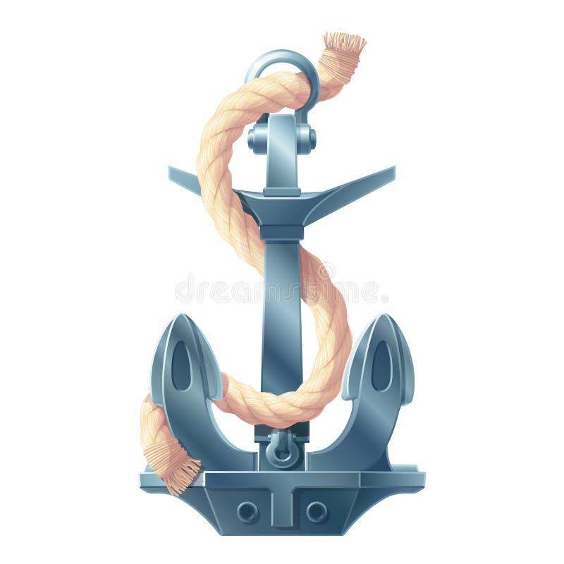 Ancre maritime d'ic?ne de mer de vecteur illustration de vecteur