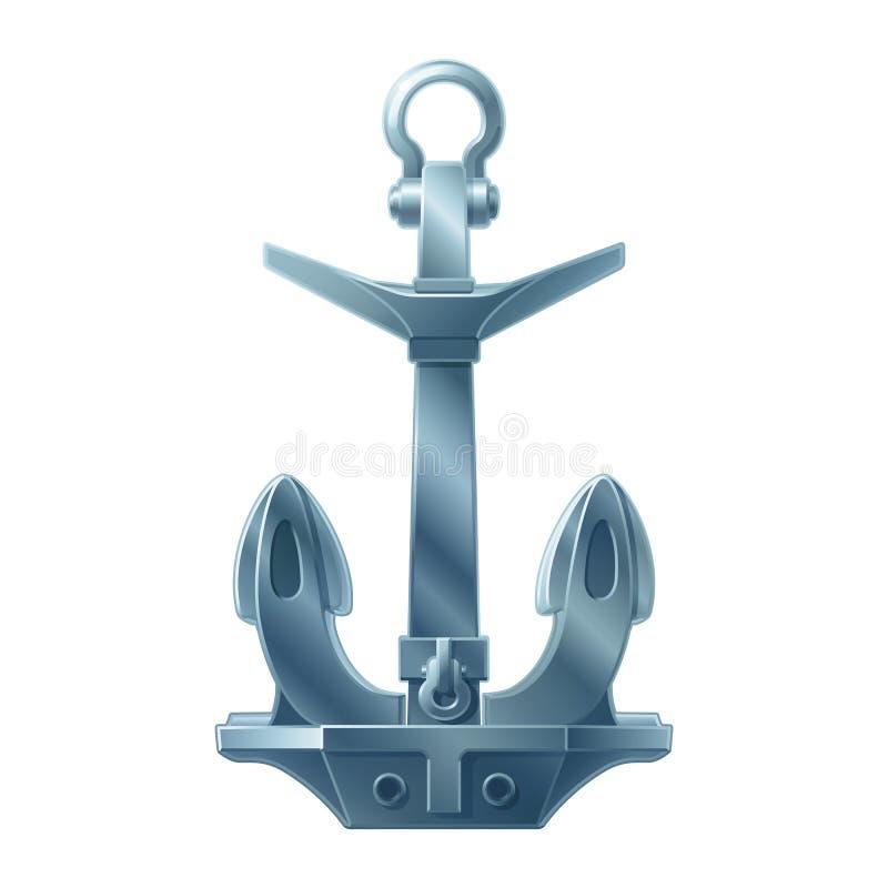 Ancre maritime d'ic?ne de mer de vecteur illustration libre de droits