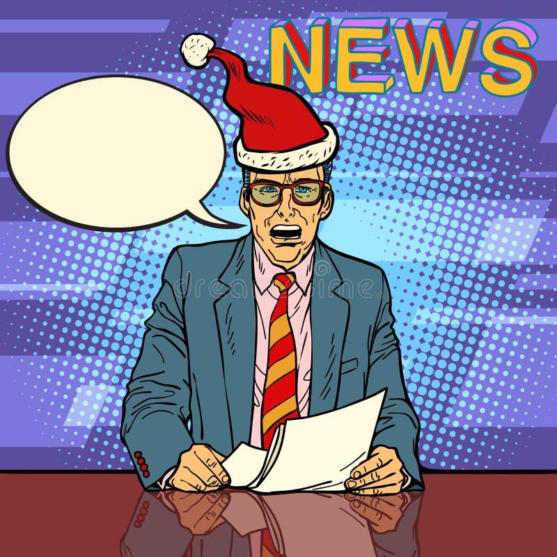 Ancre masculine d'actualités illustration de vecteur