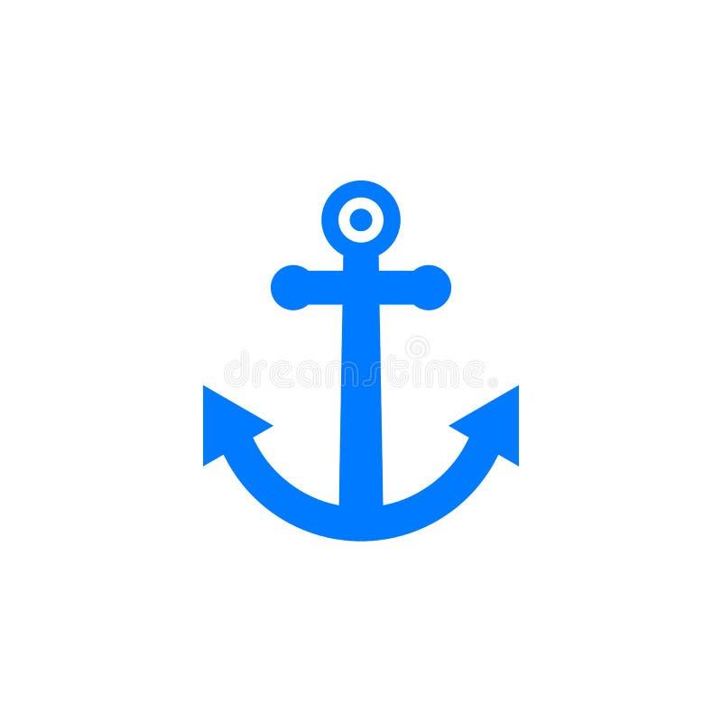 Ancrez le vecteur d'icône, signe plat rempli, pictogramme coloré solide illustration libre de droits