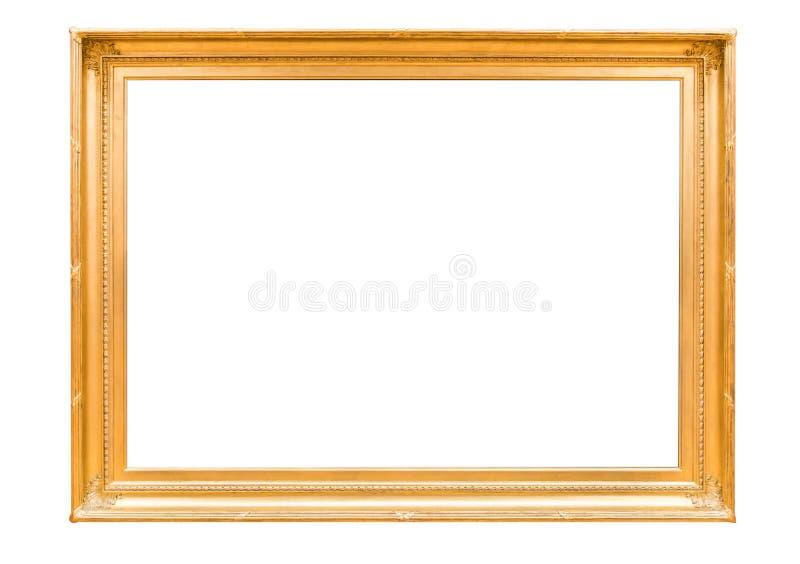 Anctient crested el espejo de madera de oro fotos de archivo