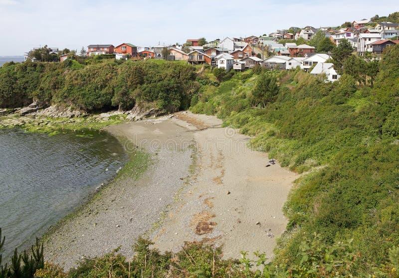 Ancud, Chiloe海岛,智利 免版税库存照片