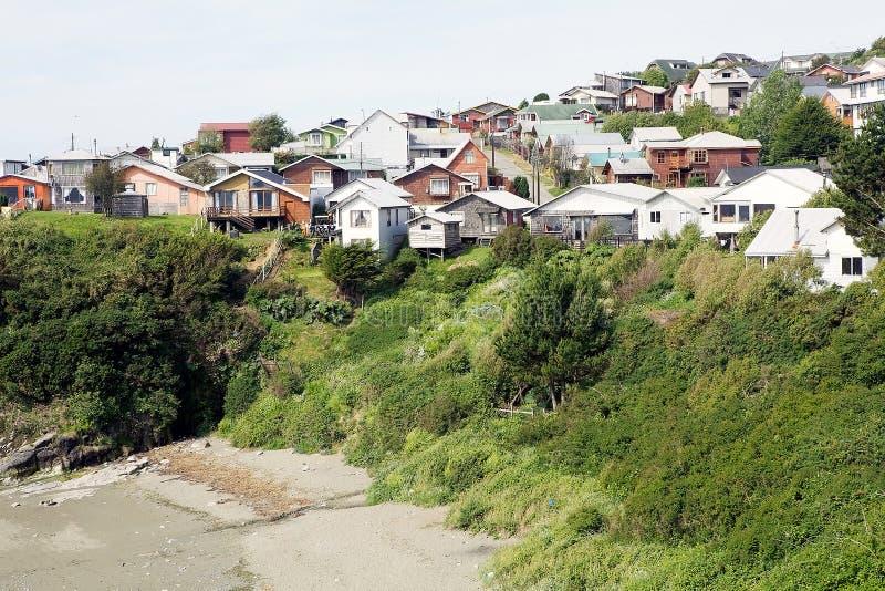 Ancud Chiloe ö, Chile fotografering för bildbyråer