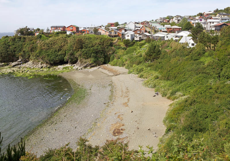 Ancud, ilha de Chiloe, o Chile fotos de stock royalty free