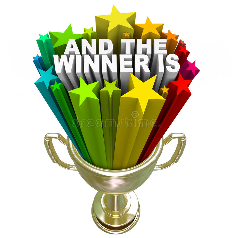Free And The Winner Is Gold Trophy Award Royalty Free Stock Photo - 29536625