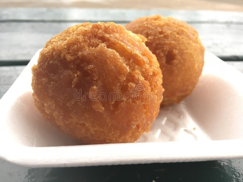 Andagi, Okinawa Donuts em Kekaha na ilha de Kauai, Havaí foto de stock royalty free