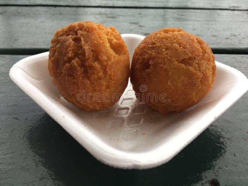 Andagi, Okinawa Donuts em Kekaha na ilha de Kauai, Havaí fotos de stock