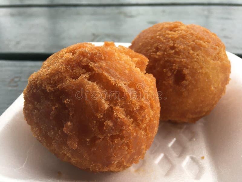 Andagi, Okinawa Donuts em Kekaha na ilha de Kauai, Havaí imagem de stock royalty free