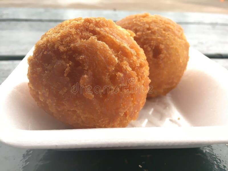 Andagi, Okinawa Donuts em Kekaha na ilha de Kauai, Havaí foto de stock