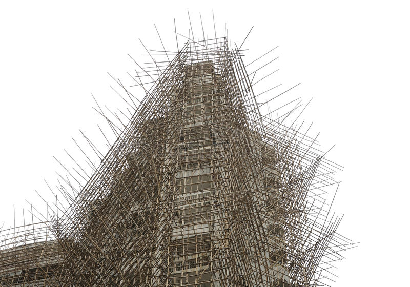 Andaime de bambu foto de stock royalty free