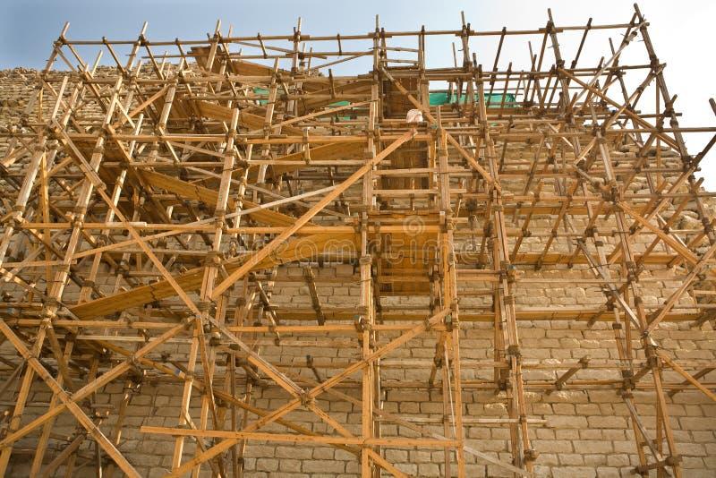 Andaimes da pirâmide imagens de stock