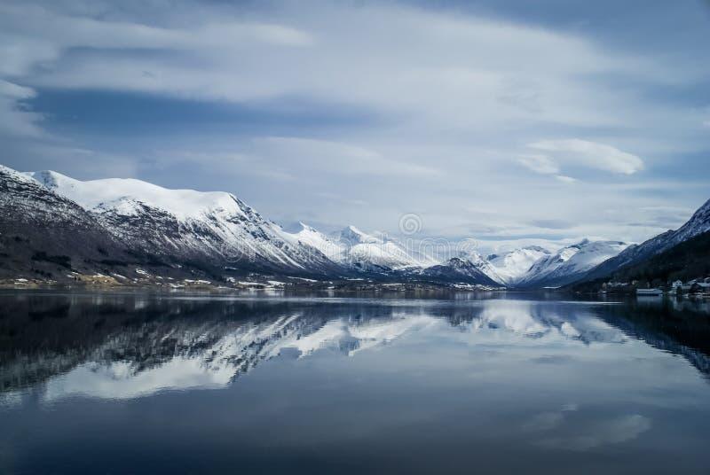 Andalsnes在挪威 图库摄影