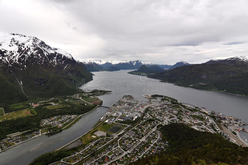 Andalsnes,挪威 免版税库存照片