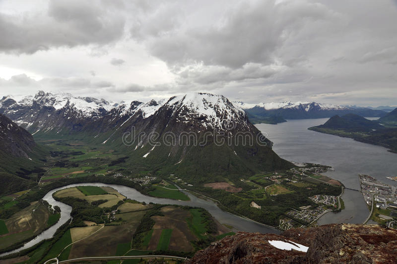 Andalsnes,挪威 免版税图库摄影