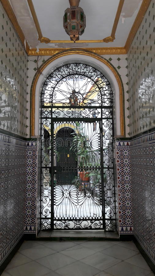 Andalucian dom w Cadiz, Hiszpania obraz stock