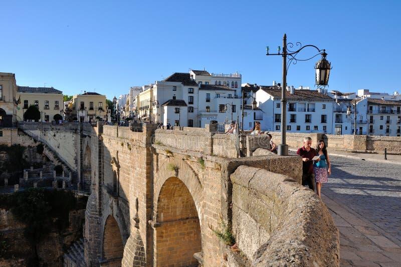 andalusia bridżowy Ronda Spain fotografia stock
