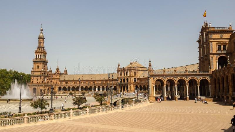 andalusia de espana Europa plaza seville spain arkivbild