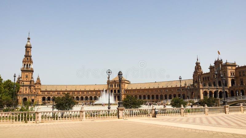 andalusia de espana Europa plaza seville spain royaltyfria foton