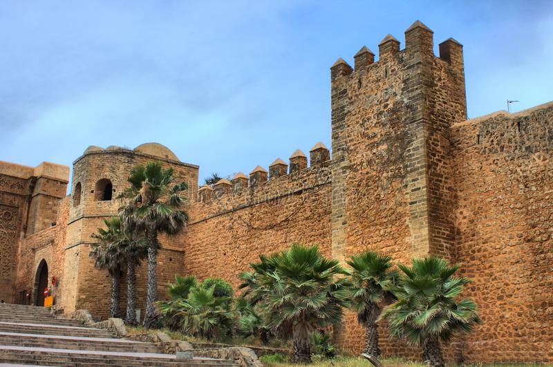 Andalusian Gardens in Rabat. Morocco stock image