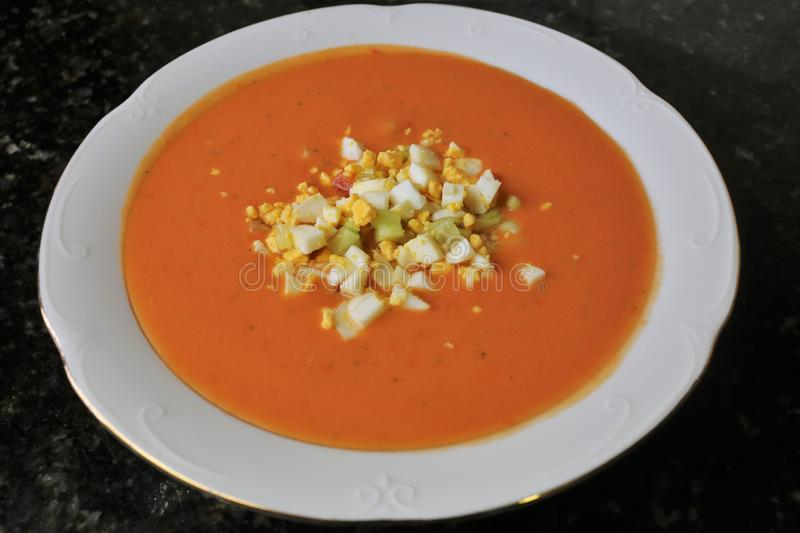 Andalusian gazpacho Andalusian and Spanish cuisine. Andalusian Gazpacho a typical and traditional food of the Andalusian and Spanish cuisine. The gazpacho is a stock photography