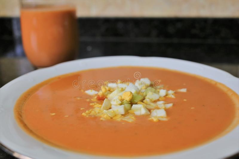 Andalusian gazpacho Andalusian and Spanish cuisine stock photography