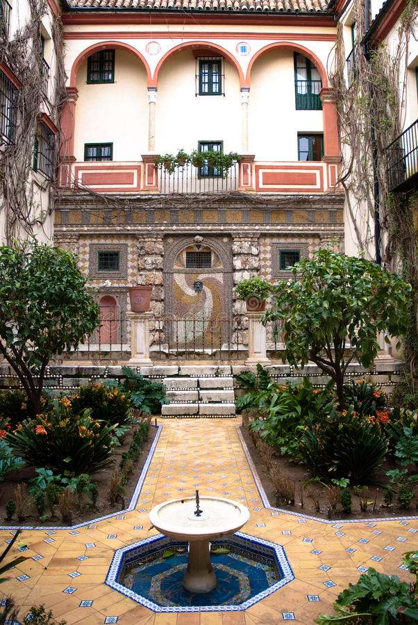 Andalusian Patio royalty free stock image