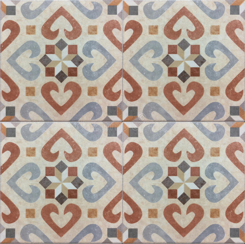 Andalusian pattern, spanish tiles , geometric mosaic design. Andalusian pattern, spanish tiles - geometric mosaic design stock photography