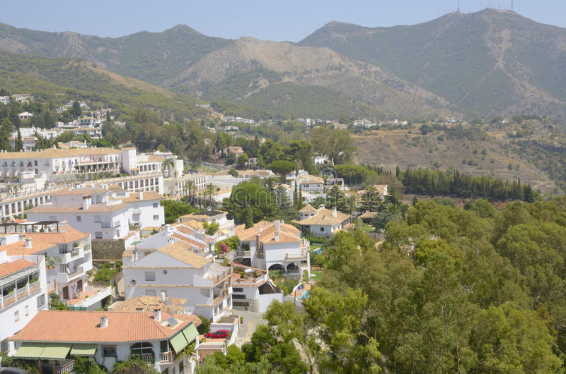 Download Andalusian Village In The Mountains Stock Image - Image of tree, white: 26595567