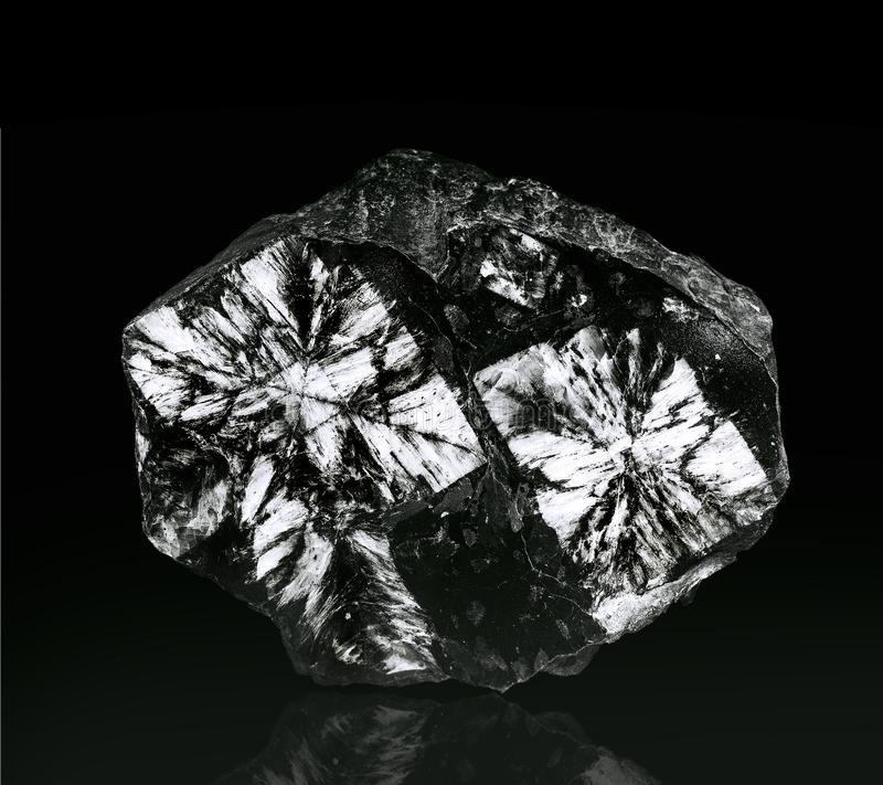 The Andalusite, gemstone from Spain royalty free stock photography