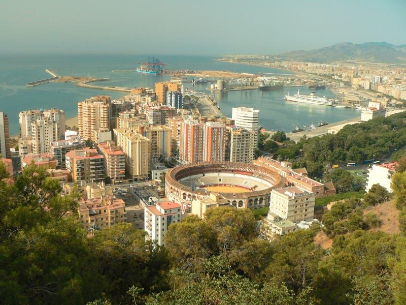 andaluzja Malaga areny, port Hiszpanii zdjęcie royalty free