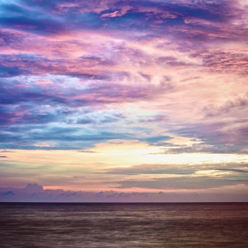 andaman над заходом солнца моря стоковое изображение