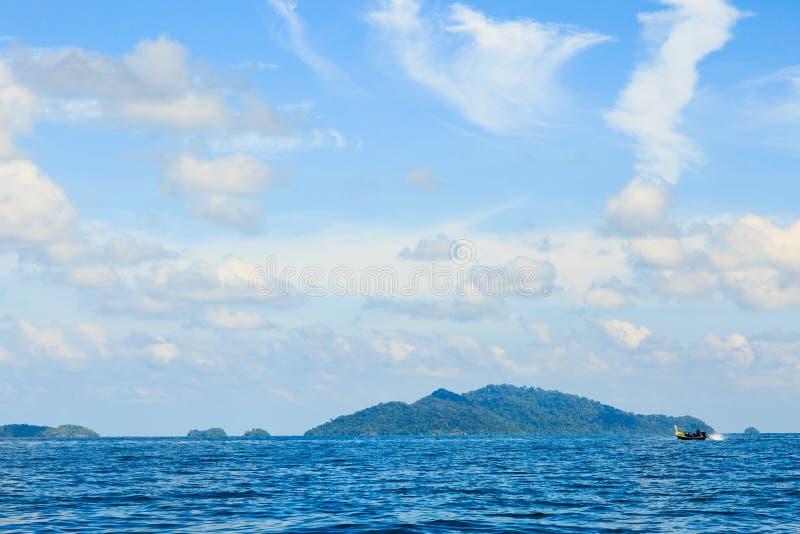 Andaman & fiskare royaltyfria foton