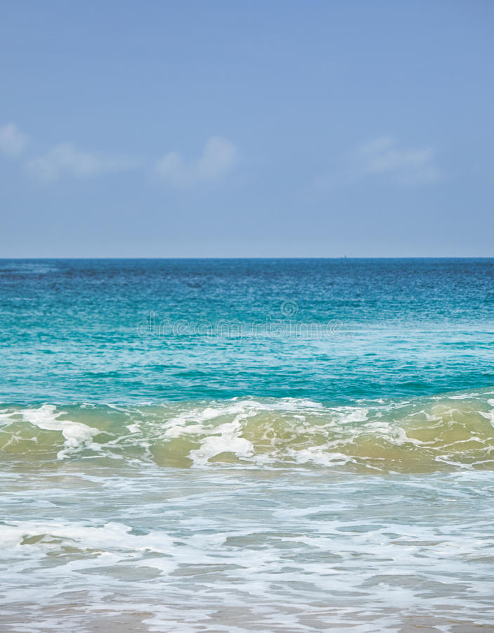 Andaman sea near Karon beach on Phuket island. In Thailand royalty free stock photo