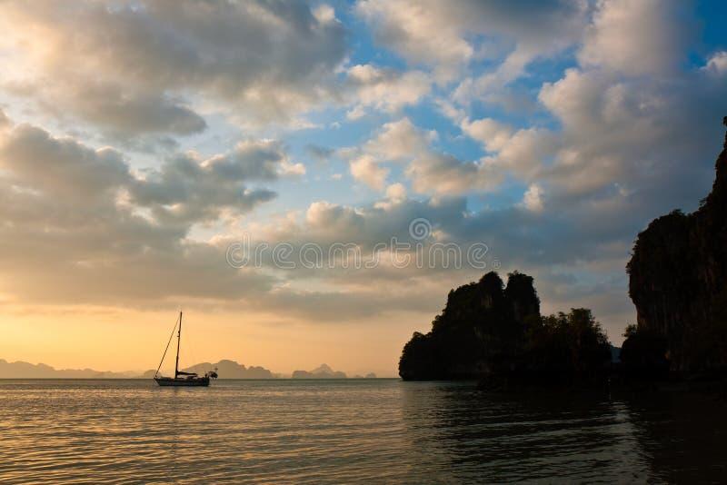 Download Andaman Sea Sunset stock image. Image of rock, hill, dark - 12186283