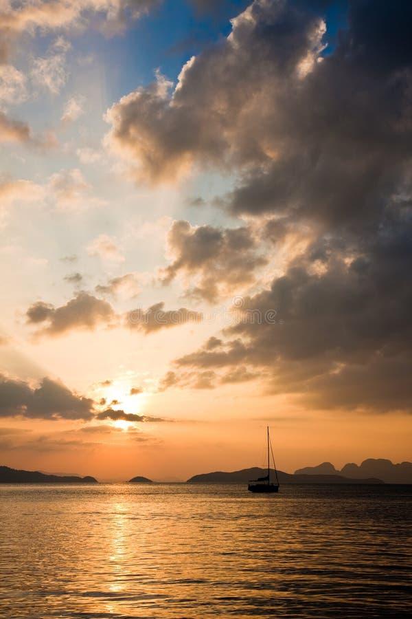 Andaman Sea Sunset Royalty Free Stock Photos
