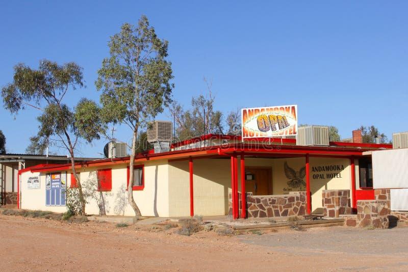 Andamooka Opalowy hotel, Andamooka, Południowy Australia obraz stock