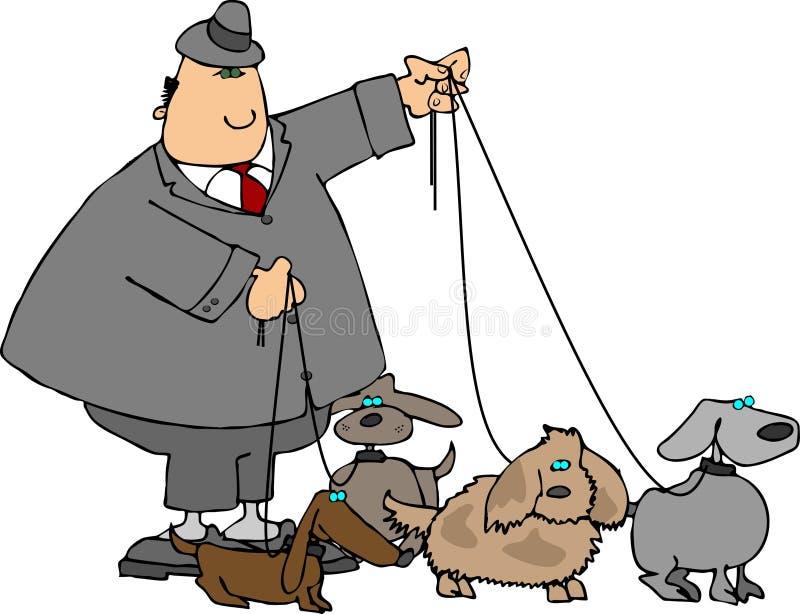 Andando os cães ilustração stock