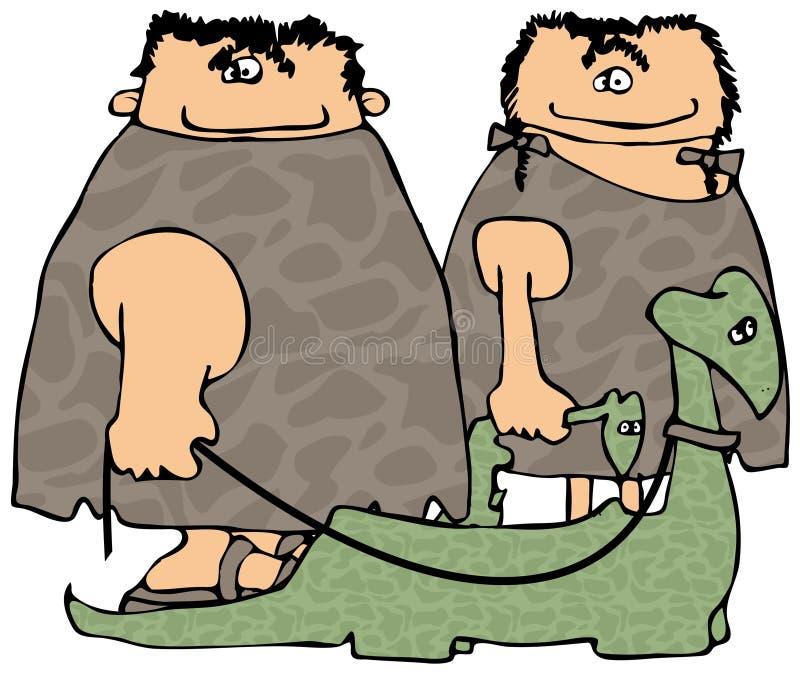 Andando os dinossauros ilustração do vetor