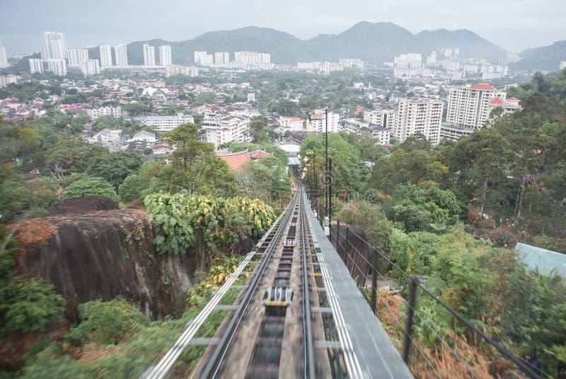 Andando su alla collina di Penang immagine stock