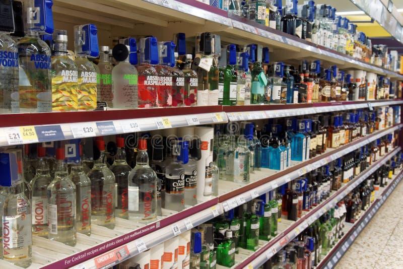 Andar och annan alkohol på Sale arkivbilder