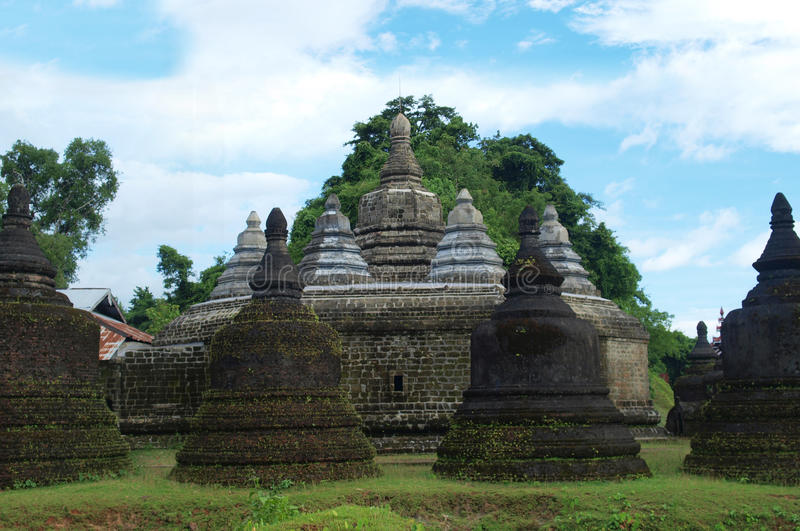 Andaw-thein temple in Mrauk U, sub region of the Sittwe District, Rakhine State, Myanmar. Mrauk U is an archaeologically important town and capital of Mrauk U stock images